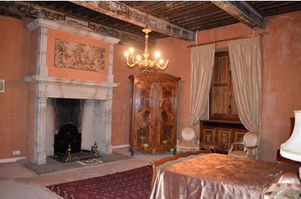 Chambre d'Or fireplace